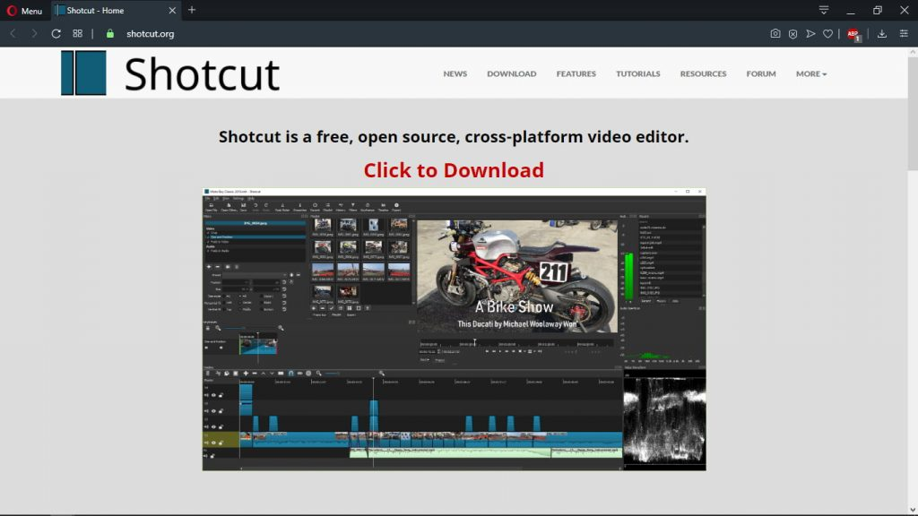 logiciel montage video shotcut